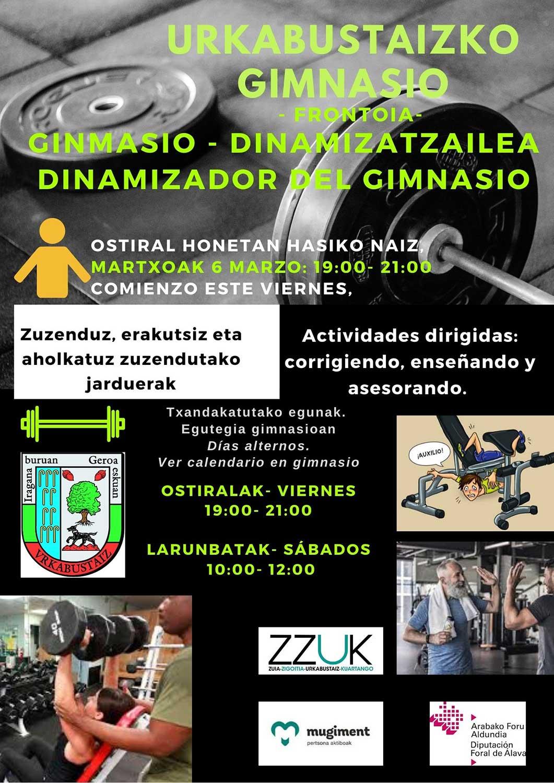 Dimamización gimnasio Urkabustaiz