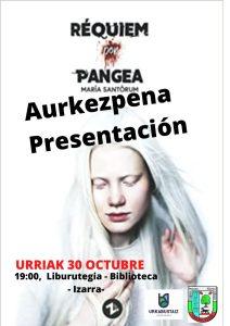 """[:es]Presentación del libro """"Réquiem por Pangea"""" de María Santórum[:eu]Maria Santorumen """"Réquiem por Pangea"""" liburuaren aurkezpena[:] @ Biblioteca"""